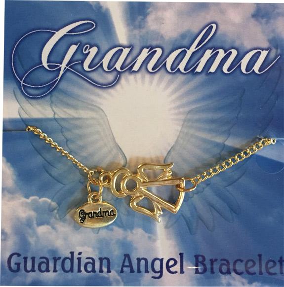 Grandma Gold Angel Charm Bracelet - Grandma Gifts - Buy Holiday Shop Gifts