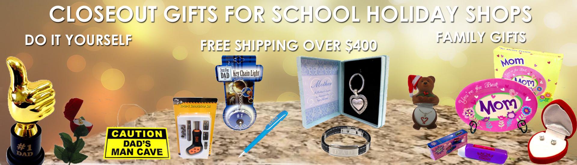 Santa Shop Holiday Gifts Closeouts - School Santa Shops