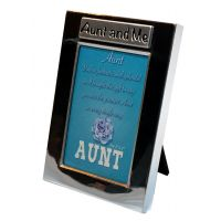 Aunt and Me Silver Photo Frame - Aunt Gifts - Buy Holiday Shop Gifts
