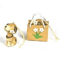 Dog Ornament In Flower Gift Bag - Christmas - Holiday Gifts - Buy Holiday Shop Gifts