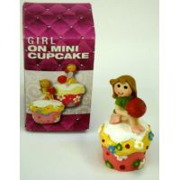 Girl On Mini Cupcake Figure - Gifts For Women - Buy Holiday Shop Gifts