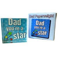 Dad Star Paperweight - Dad Gifts - Buy Holiday Shop Gifts