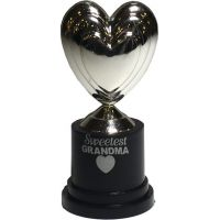 Grandma Silver Heart Trophy - Grandma Gifts - Buy Holiday Shop Gifts