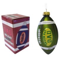 Green Bay Dad Rocks Football Ornament - Dad Gifts - Buy Holiday Shop Gifts