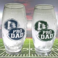 Pro Dad Football Shaped Glass Mug - Dad Gifts - Buy Holiday Shop Gifts