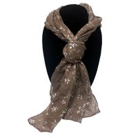 Tan Snowflake Designer Scarf - Gifts For Women - Buy Holiday Shop Gifts