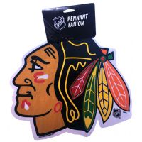 Blackhawks Die Cut Logo Pennant - Sports Team Logo Gifts - Buy Holiday Shop Gifts