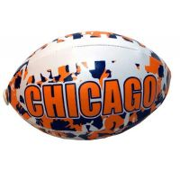 Chicago Camouflage Football - 6 Inch - Sports Team Logo Gifts - Buy Holiday Shop Gifts