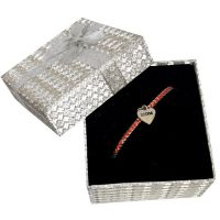 Mom Heart Charm Bracelet Silver Box - Mom Gifts - Buy Holiday Shop Gifts