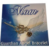 Mom Silver Angel Bracelet - Mom Gifts - Buy Holiday Shop Gifts