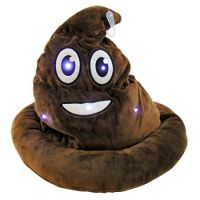 Light Up Emoticon Poo Hat - Plush Gifts - Buy Holiday Shop Gifts