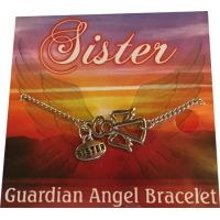 Sister Silver Angel Bracelet - Sister Gifts - Buy Holiday Shop Gifts