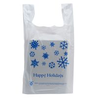 50 Pack - Happy Holidays T-Shirt Shopping Bags - Santa Shop Gift Bags - Buy Holiday Shop Gifts