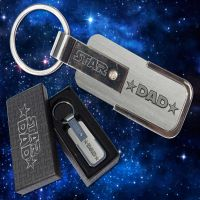 Star Dad Key Chain