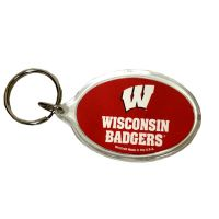 Wisconsin Badgers Key Chain - Acrylic - Sports Team Logo Gifts - Buy Holiday Shop Gifts