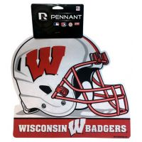 Wisconsin Badgers Helmet Pennant - Sports Team Logo Gifts - Buy Holiday Shop Gifts
