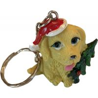 Festive Dog Key Chain - Christmas - Holiday Gifts - Buy Holiday Shop Gifts