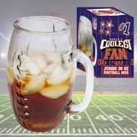 Coolest Fan Football Glass Mug - Gifts For Men - Buy Holiday Shop Gifts