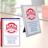 Dad Hall of Fame Glass Plaque - Dad Gifts - Buy Holiday Shop Gifts
