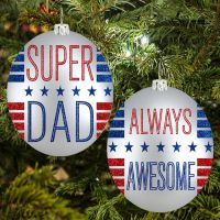 Super Dad Ornament - Dad Gifts - Buy Holiday Shop Gifts