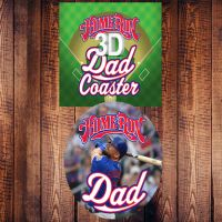 Home Run Dad 3D Coaster - Dad Gifts - Buy Holiday Shop Gifts