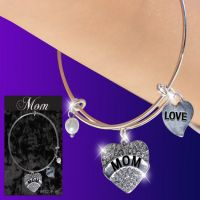 Mom Glitter Heart Charm Bracelet - Mom Gifts - Buy Holiday Shop Gifts