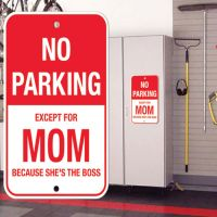 No Parking Except Mom Sign - Mom Gifts - Buy Holiday Shop Gifts