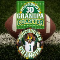 Touch Down Grandpa 3D Coaster - Grandpa Gifts - Buy Holiday Shop Gifts