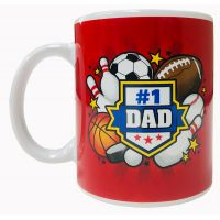 Dad Mug with Sports Theme - Dad Gifts - Buy Holiday Shop Gifts